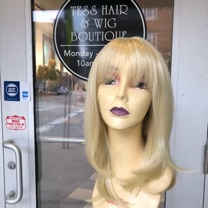 Accessories - Blonde wig skin top 14 inch layers wig 2019 style